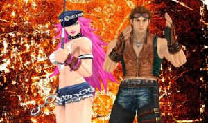 Poison and Hwoarang (tag team) by White---Devil