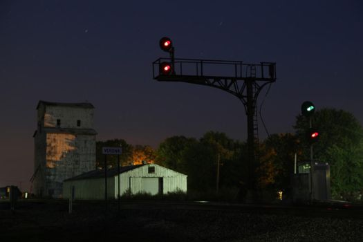 Signals at night by 3window34