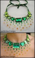 Green Rainbow Rhinestones by Natalie526