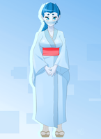 Commission: Setsuko the Yuki-Onna (Snow Woman) by djunk855