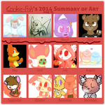 My 2014/2015 Summary of art by Cookie-and-her-foxes