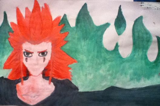 Axel in watercolors by Forestpelt