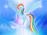 Magestic Rainbow Dash by MLR19