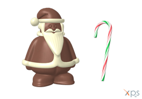 Christmas Choco and Candy Cane by xmas-kitty by Tiffli