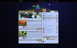 Infernal Minecraft Web Design by Ronchh