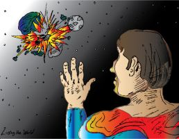 Superman-Losing the World by DgWaldo