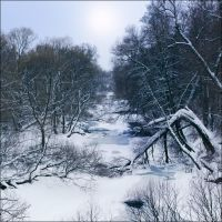 Winter river by KARRR