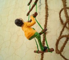 Climbing Up The Ladder by aakritiarts
