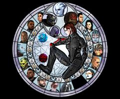 Mass Effect stained Glass by AniaDawson