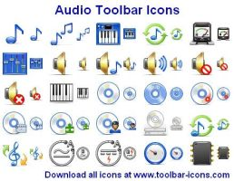 Audio Toolbar Icons by Ikonod