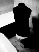 doll in toilet by 76dragons