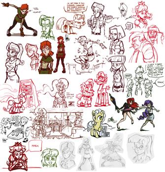 Livestream sketch dump #12 by TheArtrix