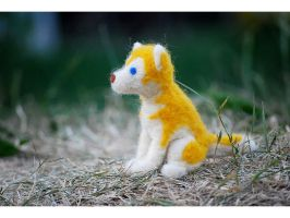 My first needle felted huskyII by Pawkeye