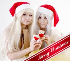 Nyotaria Russia and Preussen Christmas Ver by glas-of-ice