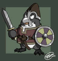 Viking Penguin 2 by SharpDressedReptile