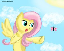 MLP-FIM: OMG A BUTTERFLY by TsubukiSan