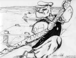 My Popeye rendition in ink '05 by jasonnuttall