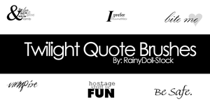 Twilight Quote Brushes by RainyDoll-Stock