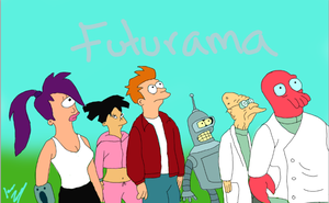 Futurama characters by IGTorres-Art