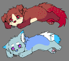 Red and Blue Puppy Adopts (CLOSED) by Doom-Duck