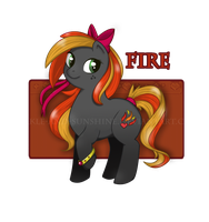 MLP Adoptable - Fire -Closed- by Sparkle-And-Sunshine