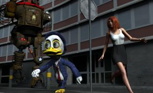 Howard the Duck on the Run by MickLee99