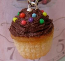 Vanilla and Choc Cupcake Charm by LittleSweetDreams