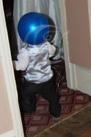 Balloon head boy by Moonstarphotos