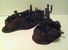 epic ork buildings by richardsymonsart