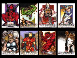 Compiled Thor the dark world sketch cards by JASONS21