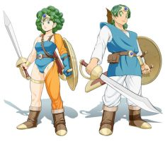 Dragon Quest 4 Hero and Heroin by Ex-HK