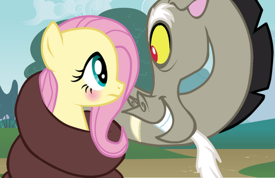 Discord And Fluttershy. by floppytheshipper