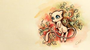 Watercolor-Mew by BluHiroo
