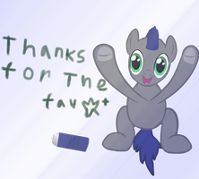 Thanks For Fave by AnthracksThePony