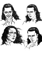 Loki sketches for Lost by Cris-Nicola