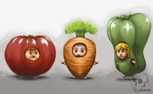 :: Vegetababies by redpoio