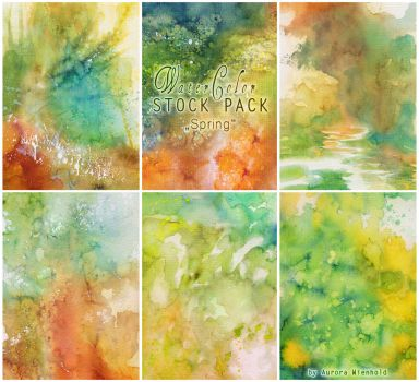 Watercolor - Stock Pack 1 by AuroraWienhold