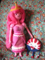 Needle Felted Princess Bubblegum and Peppermint B. by CatsFeltLings
