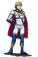 Power Girl Regal Redesign by cpuhuman
