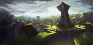 Forest Village (and sheep ??) by 7heKro
