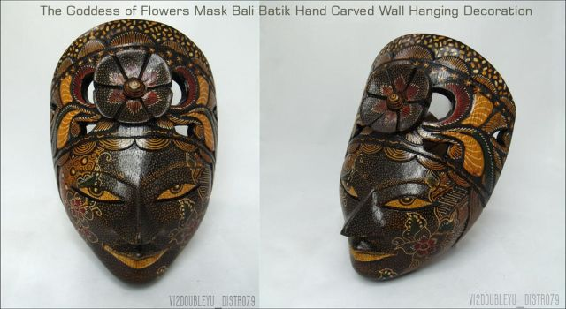 The Goddess of Flowers Mask BALI BATIK by Vi2DoubleYu