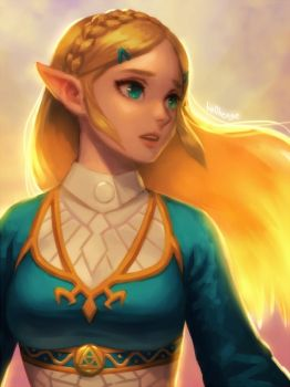BotW Zelda by bellhenge