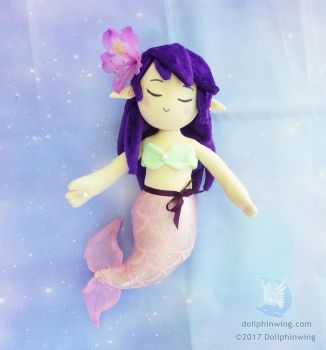 Mermaid Plush Doll (Pattern Available) by dollphinwing