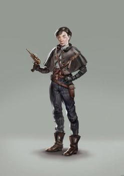 Steampunk character by CyanideSunflower