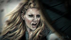 Shieldmaiden - Lagertha of Vikings by minielche