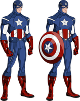 Captain America- Avengers Uniform (Bourassa Style) by MAD-54