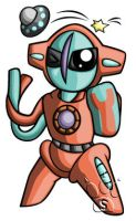 Deoxys Chibi by RedPawDesigns