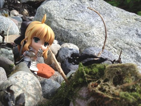 Nendoroid, Saber Fighting The Beach-Monster by PikKirby