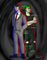 Darkiplier and Antisepticeye by ErrorMCFalcon