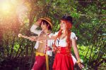 Nami and Luffy Explore Whole Cake Island One Piece by firecloak